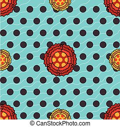 Flamenco seamless pattern floral - Flamenco seamless pattern...