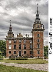 Marsvinsholms Slott in Skane - Marsvinsholms castle in...