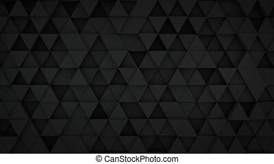 Black triangles extruding surface 3D loopable animation -...