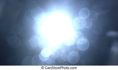 Blue light and lens flares seamless loop