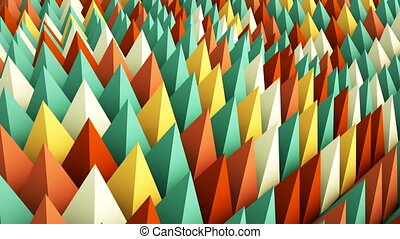 Colorful geometric background 3D render animation loopable -...