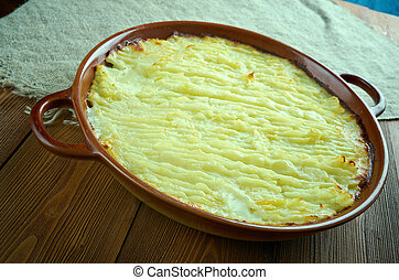 Fishermans Pie. od with potatoes Casserole