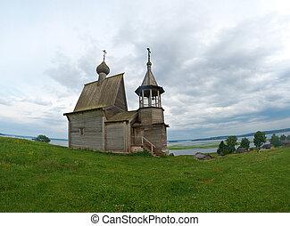 Wooden chapel St. Nicholas.Kenozerye, Arkhangelsk region,...