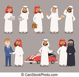 Arab prince man vector illustration. - Cartoon illustration...