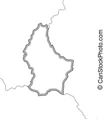 Map - Luxembourg - Map of Luxembourg and nearby countries in...