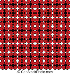 Retro floral background in red and black