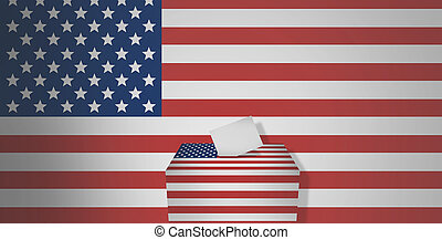 presidential election america flag 3d render graphic