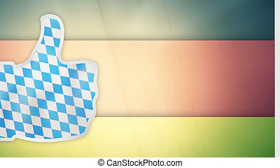 bavaria munich oktoberfest thumbs up germany flag 3d render