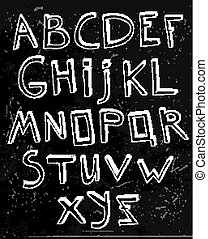 Hand Drawn Alphabet 02 A