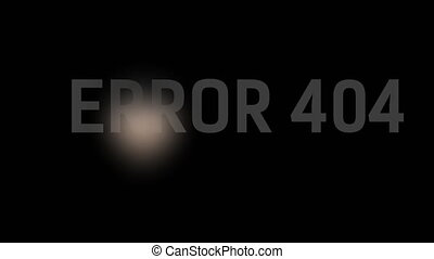 Stylized Error 404 - Page not found with man in hood and...