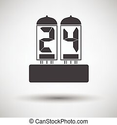 Electric numeral lamp icon