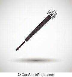 Electricity test screwdriver icon on gray background with...