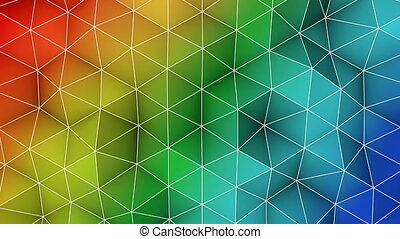 Colorful triangle polygons background loopable - Colorful...