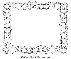 Picture frame of puzzles