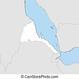 Map - Eritrea - Map of Eritrea and nearby countries, Eritrea...