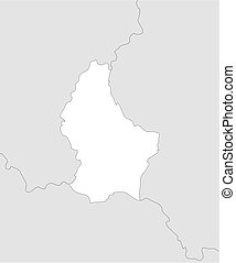 Map - Luxembourg - Map of Luxembourg and nearby countries,...