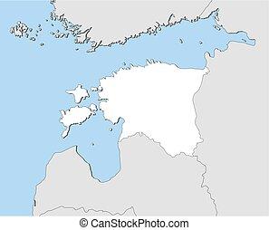 Map - Estonia - Map of Estonia and nearby countries, Estonia...