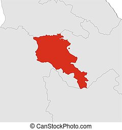 Map - Armenia - Map of Armenia and nearby countries, Armenia...
