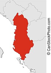 Map - Albania - Map of Albania and nearby countries, Albania...