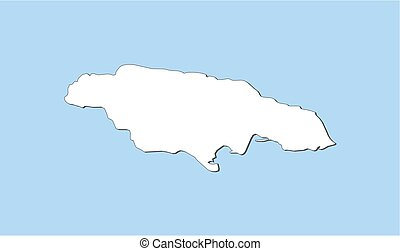 Map - Jamaica - Map of Jamaica and nearby countries, Jamaica...