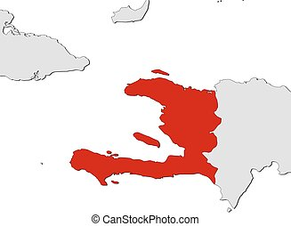 Map - Haiti - Map of Haiti and nearby countries, Haiti is...