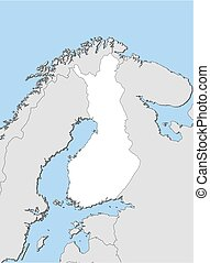Map - Finland - Map of Finland and nearby countries, Finland...