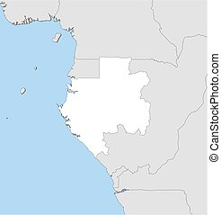 Map - Gabon - Map of Gabon and nearby countries, Gabon is...