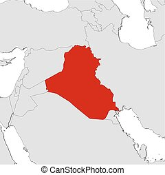 Map - Iraq - Map of Iraq and nearby countries, Iraq is...