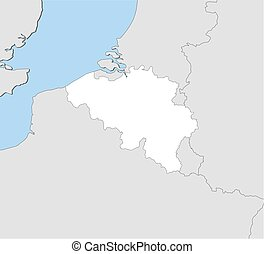 Map - Belgium - Map of Belgium and nearby countries, Belgium...