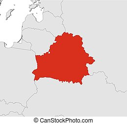 Map - Belarus - Map of Belarus and nearby countries, Belarus...