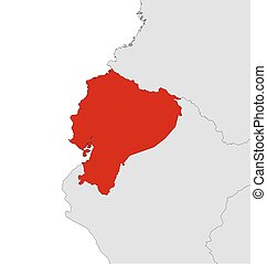 Map - Ecuador - Map of Ecuador and nearby countries, Ecuador...