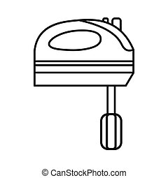 Kitchen mixer icon, outline style - Kitchen mixer icon in...