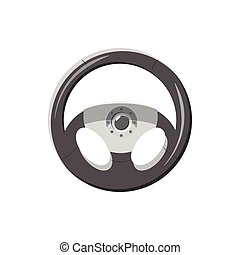 Steering wheel icon in cartoon style - icon in cartoon style...