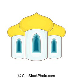 Domes of the church icon, cartoon style