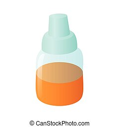 Refill bottle icon in cartoon style - icon in cartoon style...