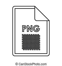 PNG image file extension icon, outline style - PNG image...