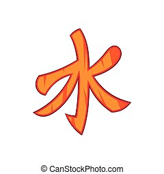 Confucian symbol icon in cartoon style - icon in cartoon...