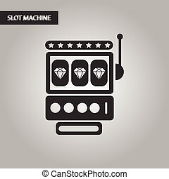 black and white style slot machine
