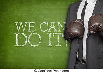 We can do it on blackboard with businessman on side