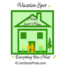home vacation - thrifty family vacationing at home poster...
