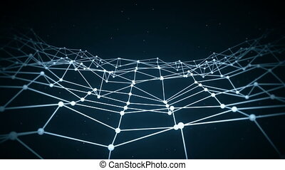 Network shape sci-fi loop background - Network shape Sci-fi...