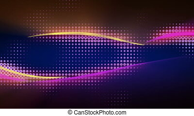 Shiny curves flying seamless loop abstract animation - Shiny...