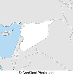 Map - Syria - Map of Syria and nearby countries, Syria is...