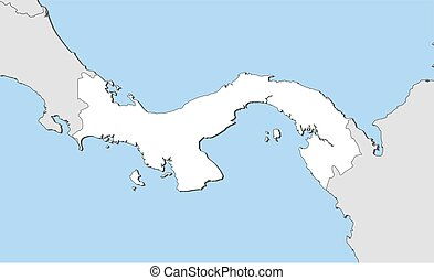 Map - Panama - Map of Panama and nearby countries, Panama is...