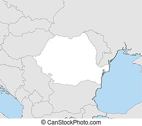Map - Romania - Map of Romania and nearby countries, Romania...