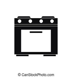 Gas stove icon, simple style - Gas stove icon in simple...