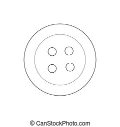 Button icon, outline style