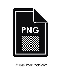 File PNG icon, simple style - File PNG icon in simple style...