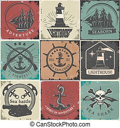 Sailing Vintage Stickers