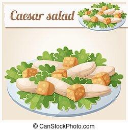 Caesar salad. Detailed Vector Icon